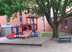Private courtyard playground